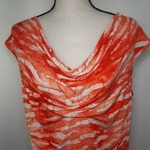 MICHAEL Michael Kors Tops - MICHAEL MICHAEL KORS Orange & White Top, size XL